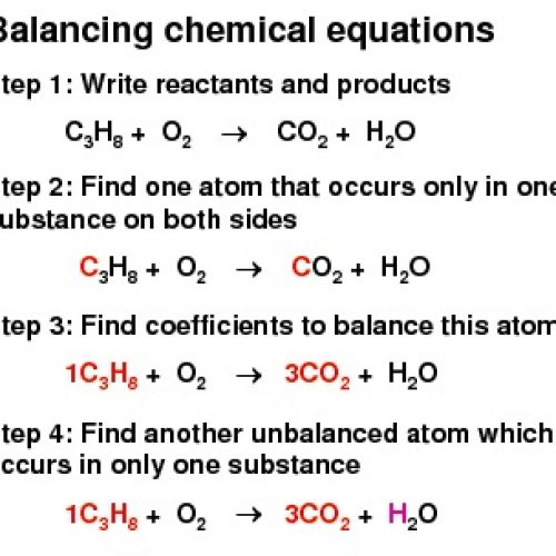 Chemistry and Balancing Chemical Equations