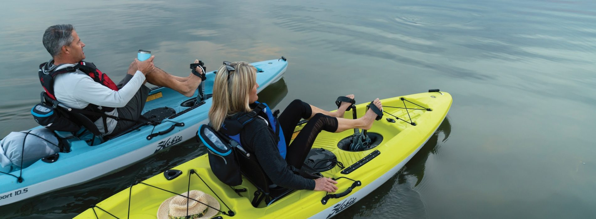 Maneuver over water with Pedal Fishing Kayak